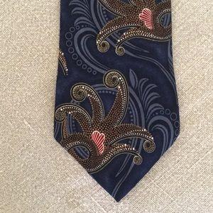 Oscar de la Renta ,silk necktie , excellent cond